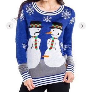 Tipsy Elves Snowman Ugly Christmas Unisex Sweater